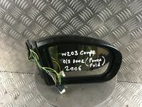 MERCEDES WING MIRROR C Class W203 COUPE CL203 RIGHT O/S BLACK ELECTRIC FOLDING