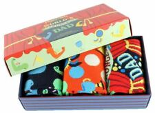 Happy Socks Mens 3-Pack Fathers Day Gift Box Socks - Red/Orange/Navy