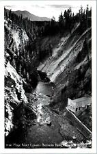 RPPC  BONNER'S FERRY, ID MOYIE RIVER CANYON PowerPlant c1950s Ross Hall Postcard