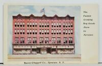 NY Bacon-Chappell Co Dry Goods Syracuse New York Postcard M7