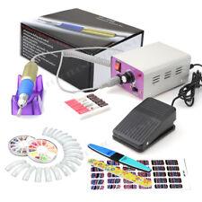 UK 30,000 Rpm Acrílico Arte en Uñas Manicura taladradora de archivo Eléctrica + Pedal De Pie