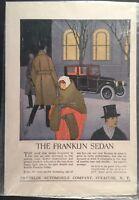 FRANKLIN SEDAN AUTOMOBILE Original Vintage Full Page Color Print Ad Advertisment