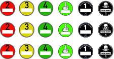 18 Modell Umweltplaketten in 1:14,5  -  für TAMIYA Trucks