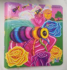 Vtg Lisa Frank Colorful Honey Buzz Bee Flowers Curve Back 3 Ring Binder Notebook