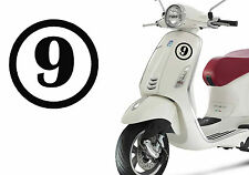 Number Nine Poussin Vinyle Cut Autocollant Vinyle Numéro 9. Nine VII