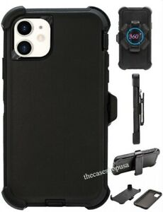 For Apple iPhone 11, Pro, Max Case Cover Belt Clip Fits Otterbox Defender Black
