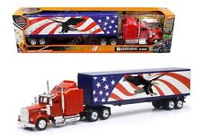 NEW RAY 1:43 TRAILER KENWORTH W900 PATRIOTIC GRAPHIC TRUCK TRAILER SS-15333X