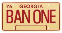 Smokey and the Bandit - BAN ONE 1977 Trans Am - Metal Stamped Prop Licence Plate
