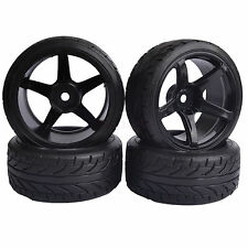 4PC 9mm offset RC 1/10 On-Road Drift Car Plastic Tires HSP flying fish 8077-9015