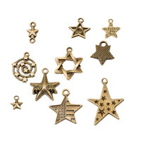 10 pcs bronze tone round made with love metal tags bead charm label for crafts finding