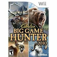 Cabela's Big Game Hunter 2010 - Nintendo Wii Game Authentic
