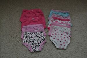 Carters Toddler Girls Lot of 10 Potty Training Pants Underwear Size 2T  GUC
