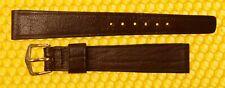16mm Vintage BULOVA Leather Watch Strap Band BROWN Elephant-Grain <NWoT>
