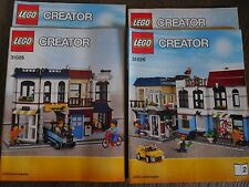 LEGO Creator Fahrradladen & Café (31026) 3in 1 Haus Häuser +Bauanleitungen