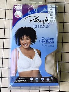 Playtex 18 Hour Wire-Free Active Breathable Comfort 4-Way Support Bra NWT Beige