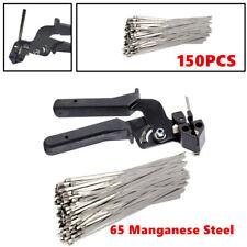 150X Stainless Steel Exhaust Wrap Zip Cable Tie Gun Tightener Cut Fasten Tools