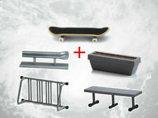 Fingerboard With Rail Finger Skate Board Park Ramp Parts Scooter
