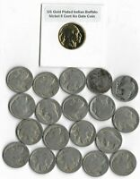 Rare Antique US Liberty Indian Buffalo Nickel Collection ½ Roll Coin Lot Gold S9