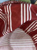 Longaberger Darning Frosty Basket Liner - Berry Red Stripe - SU
