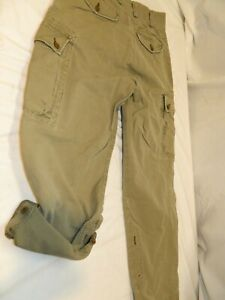 "Vintage Rare Polo Ralph Lauren Convertible Canvas Cargo Pants Roll up Capris 30"""
