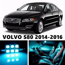 10pcs LED ICE Blue Light Interior Package Kit for VOLVO S80 2014-2016