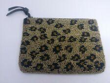 Lucky Brand Leopard Animal Print Beaded Clutch Purse