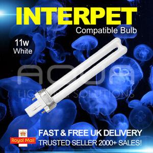 Interpet 11w 2 pin Compatible Light Bulb Aquarium Fish Tank Lamp Lighting White