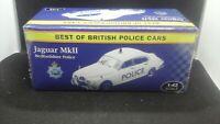 BOXED ATLAS EDITION JAGUAR MK2 BEDFORDSHIRE POLICE 1:43 SCALE.