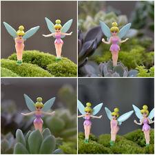 3pcs Tinkerbell Fairy Set Miniature Figurine Plant Pot Dollhouse Garden Ornament