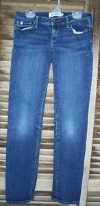 ABERCROMBIE blue denim stretch skinny jeans~girls size 14~MADDY~