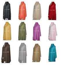 Stunning Solid Pashmina Shawl/Wrap/scarf