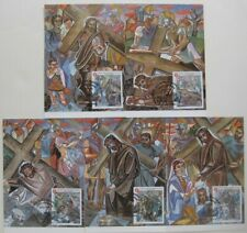 Five 1998 Smom Gino Severini First Day Covers Stations Of The Cross Color Art