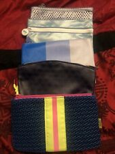 Lot Of 5 Ipsy Bags Small Make Up Bags - Blue Tones