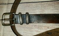 Harley Davidson Mens Brown Rugged Leather Belt Made in USA Size 40