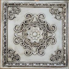 PL08 Faux Antique white tin ceiling tiles store shopping decor panels 10tile/lot