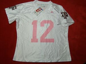 NWT Starter Womens Size Small 4-6 Texas A&M Aggies #12 Jersey White Pink Maroon