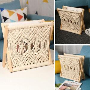 Folding Wooden Cotton Thread Magazine Rack Newspaper Hold Stand Organiser Shelf