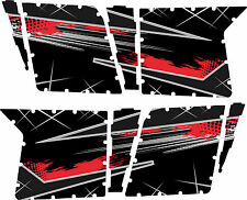 GRAPHICS DECAL KIT PRO ARMOR 4 DOOR POLARIS RZR 800 S Red / Silver w/out Cutouts