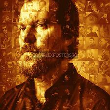 LARGE ORIGINAL PHOTO MOSAIC POSTER IN VARIOUS COLOURS OF JOHN GRANT
