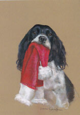 Springer Spaniel Dog Cute Puppy Painting Christmas Xmas Card