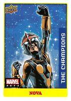 Marvel Ages 2021 (UD) LOW SERIES STICKER PARALLEL BASE Card #11 / NOVA