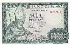 More details for spain p.151a 1965 1000 pesetas banknote aunc
