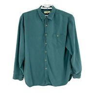 Tommy Bahama Men's Button Down Shirt Size XL Green Silk Long Sleeve Collared F6
