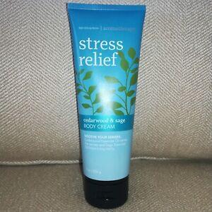 Bath & BodyWorks Aromatherapy Stress Relief Cedarwood & Sage Body Cream - 8 oz.