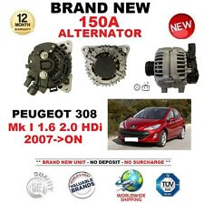 FOR PEUGEOT 308 Mk I 1.6 2.0 HDi 2007->ON NEW 150A ALTERNATOR with CLUTCH PULLEY