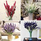 Home Decoration Wedding Silk Flowers High Simulation 12 Heads Lavender Bouquet
