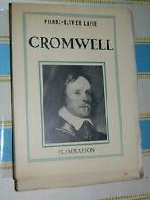 Pierre-OLivier LAPIE: CROMWELL. Flammarion, 1949 E.O. 1/25 Premiers ex. sur Lana