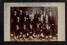 Dover - Railway United Football Club 1905/6 - real photographic postcard