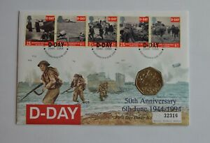 1994 D-Day 50p Fifty pence Coin Cover