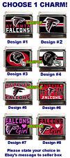 Atlanta Falcons Custom Italian Charm NFL #1 Fan Plate, Really cool, choose!